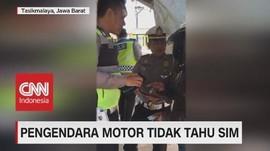 VIDEO: Viral! Ada Pengendara Motor Yang Tidak Tahu SIM