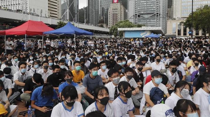 Demo Hong Kong Masih Lanjut, Siswa Sekolah Boikot Kelas