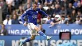 Leicester City mengalahkan AFC Bournemuth 3-1 di Stadion King Power. Jamie Vardu mencetak dua gol. (Tim Goode/PA via AP)