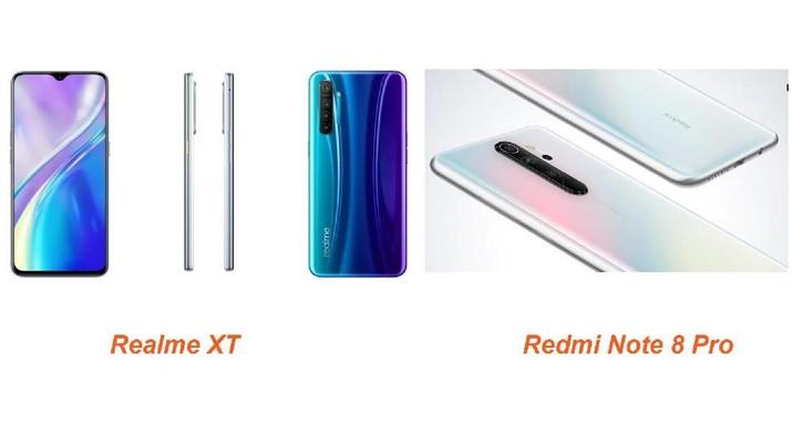 Realme XT dan Redmi Note 8 Pro akan masuk RI bulan ini. Kedua mengklaim sebagai ponsel pertama yang menggunakan kamera beresolusi 64 MP.
