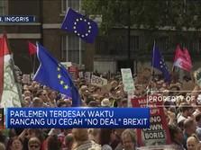 Ribuan Warga Inggris Unjuk Rasa Tolak Pembekuan Parlemen