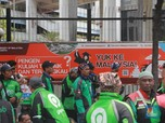 Merasa Dilecehkan, Driver Gojek Demo di Kedubes Malaysia