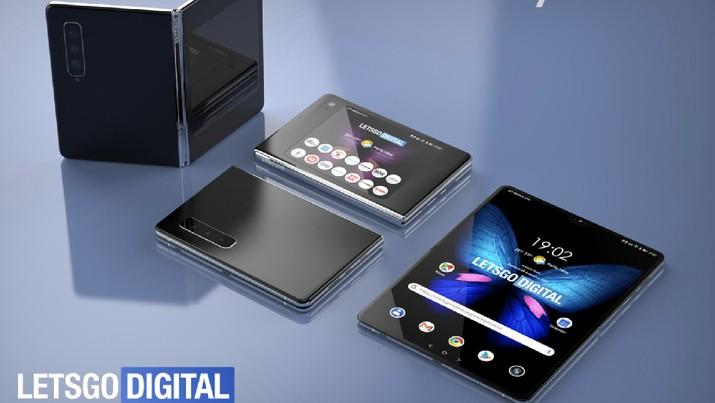 Intip Penampakan Samsung Galaxy Fold 2, si Ponsel Lipat Baru