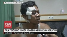 VIDEO: Kesaksian Sopir Truk Saat Kecelakaan Beruntun