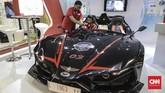 Mobil sport bertenaga listrik hasil karya anak bangsa mejeng di Indonesia Electric Motor Show (IEMS) 2019 di Balai Kartini, Jakarta, Rabu, 4 September 2019. )CNN Indonesia/Bisma Septalisma)