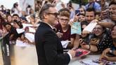 Aktor Joaquin Phoenix juga hadir dalam pembukaan Venice Film Festival, karena 'Joker' menjadi salah satu film yang pertama kali rilis di festival tersebut. (Arthur Mola/Invision/AP)