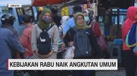 VIDEO: Kebijakan Rabu Naik Angkutan Umum
