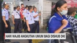 VIDEO: Hari Wajib Angkutan Umum Bagi Dishub DKI