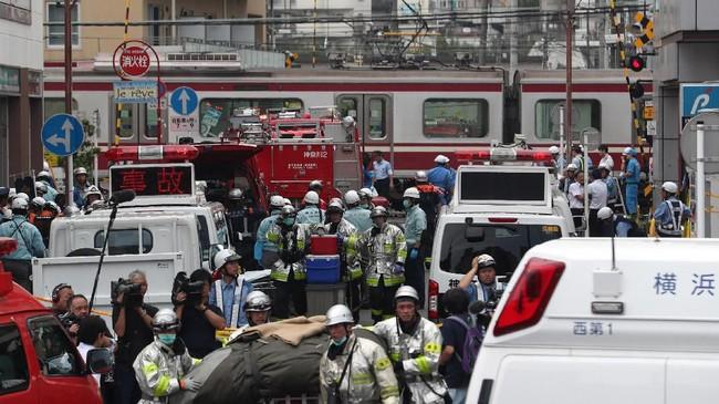 Kecelakaan kereta di Jepang jarang terjadi karena sistem dan keamanan yang cukup baik. (Photo by JIJI PRESS / JIJI PRESS / AFP) / Japan OUT