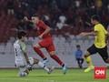 Beto Dua Gol, Indonesia Unggul 2-1 atas Malaysia di Babak I