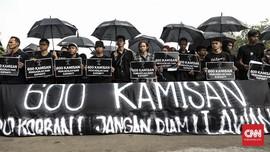 600 Aksi Kamisan di Seberang Istana Tanpa Keadilan Negara