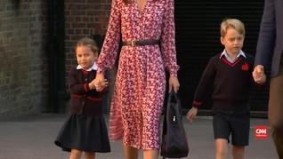 VIDEO: Momen Hari Pertama Putri Charlotte Masuk Sekolah