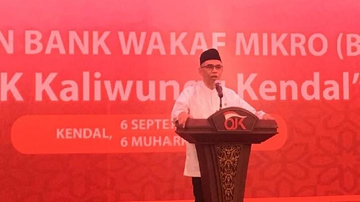 Otoritas Jasa Keuangan (OJK) meresmikan Bank Wakaf Mikro Apik di Pesantren Apik Kaliwungu, Kendal, Jawa Tengah, pada Jumat (6/9/2019).
