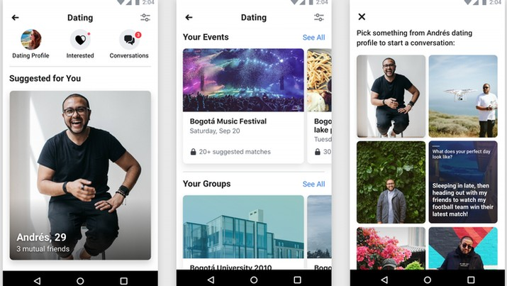Para Jomblo, Aplikasi Kencan Facebook Dating Resmi Dirilis