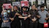 Rencana perubahan UU KPK telah disepakati DPR lewat rapat paripurna dan telah dikirimkan kepada Presiden RI Joko Widodo (Jokowi) untuk disepakati. (CNNIndonesia/Adhi Wicaksono)