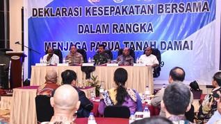 Deklarasi Papua Damai Disaksikan Panglima TNI dan Kapolri