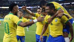 Neymar Cetak Gol, Brasil Ditahan Imbang Kolombia
