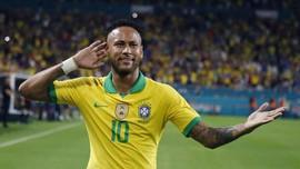 FOTO: Neymar Selamatkan Brasil dari Kekalahan