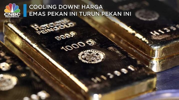Harga emas dunia di pasar spot melesat naik memasuki perdagangan sesi Amerika Serikat.