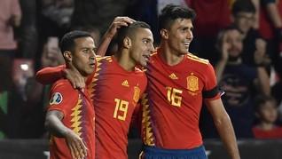 Hasil Kualifikasi Piala Eropa: Spanyol Hancurkan Kep. Faroe