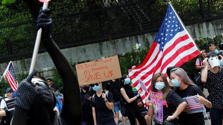 Demonstran Hong Kong Meminta Bantuan Pemerintah AS