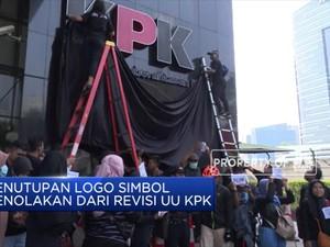 Tolak Revisi UU, KPK Tutup Logo