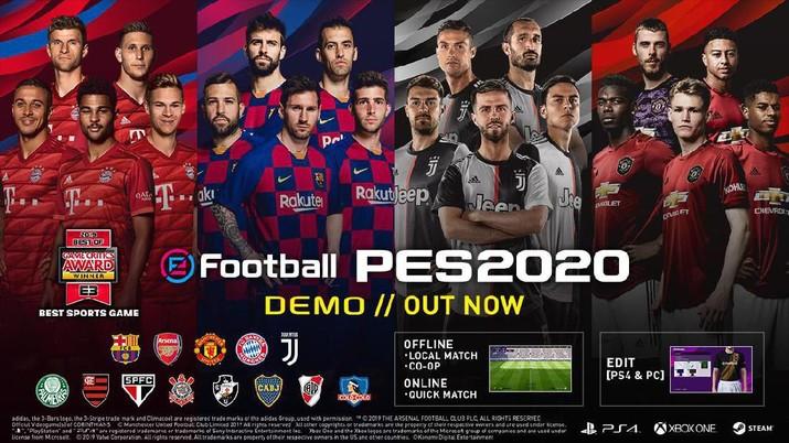 Konami resmi merilis PES 2020 hari ini (10/9/2019). Game populer ini akan berganti nama menjadi eFootball PES 2020.