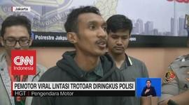 VIDEO: Pemotor Viral Pukul Pejalan Kaki Diringkus Polisi