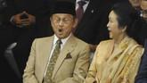 BJ Habibie ketika menghadiri pelantikan Susilo Bambang Yudhoyono di Gedung DPR RI Jakarta, pada 20 Oktober 2009. (AFP PHOTO / Bay ISMOYO)