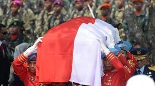 Megawati dan SBY Duduk Sebaris di Pemakaman Habibie