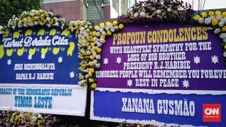 Karangan Bunga dari Xanana dan Timor Leste untuk BJ Habibie
