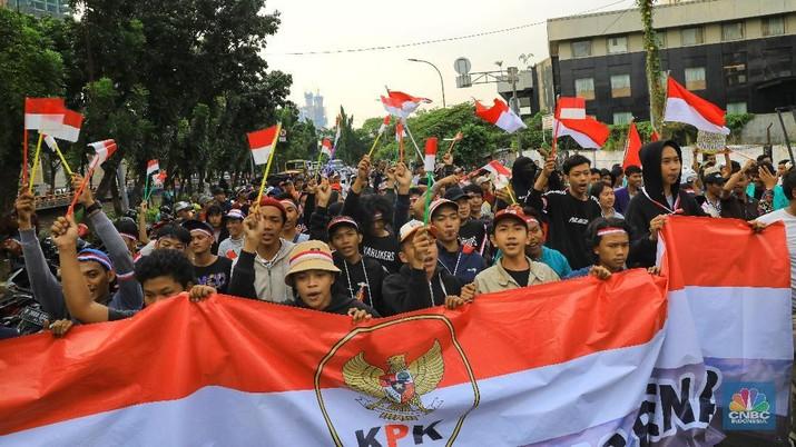 Demo Susulan Massa Pendukung RUU KPK Kembali Datang