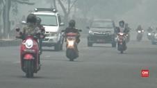 VIDEO: Kabut Asap Makin Parah, Jarak Pandang Hanya 300 Meter