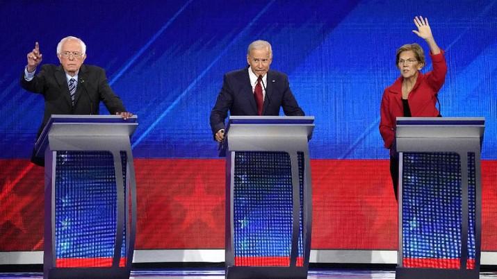 10 kandidat dari Partai Demokart AS saling adu visi, misi, dan pendapat mereka bagi masa depan Amerika Serikat serta masyarakatnya.
