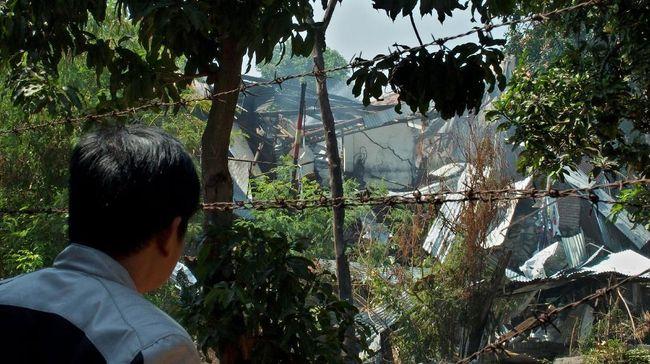 Gudang Amunisi Mako Brimob Semarang Meledak