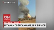 VIDEO: Detik-Detik Ledakan Gudang Amunisi Brimob di Semarang