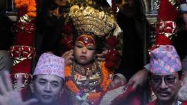 FOTO: Merayakan Akhir Musim Hujan Lewat Festival Indra Jatra