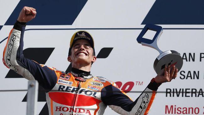 Marquez Disebut Menang MotoGP San Marino Berkat Rossi