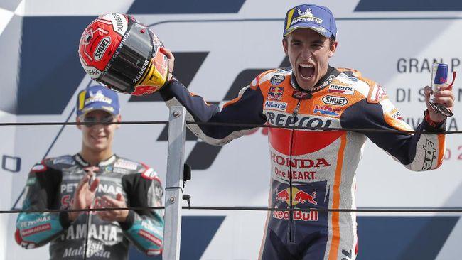 Menang MotoGP San Marino, Marquez Dicemooh Fan Rossi