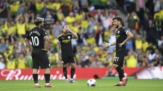 Hasil Liga Inggris: Man City Kalah dari Norwich 2-3
