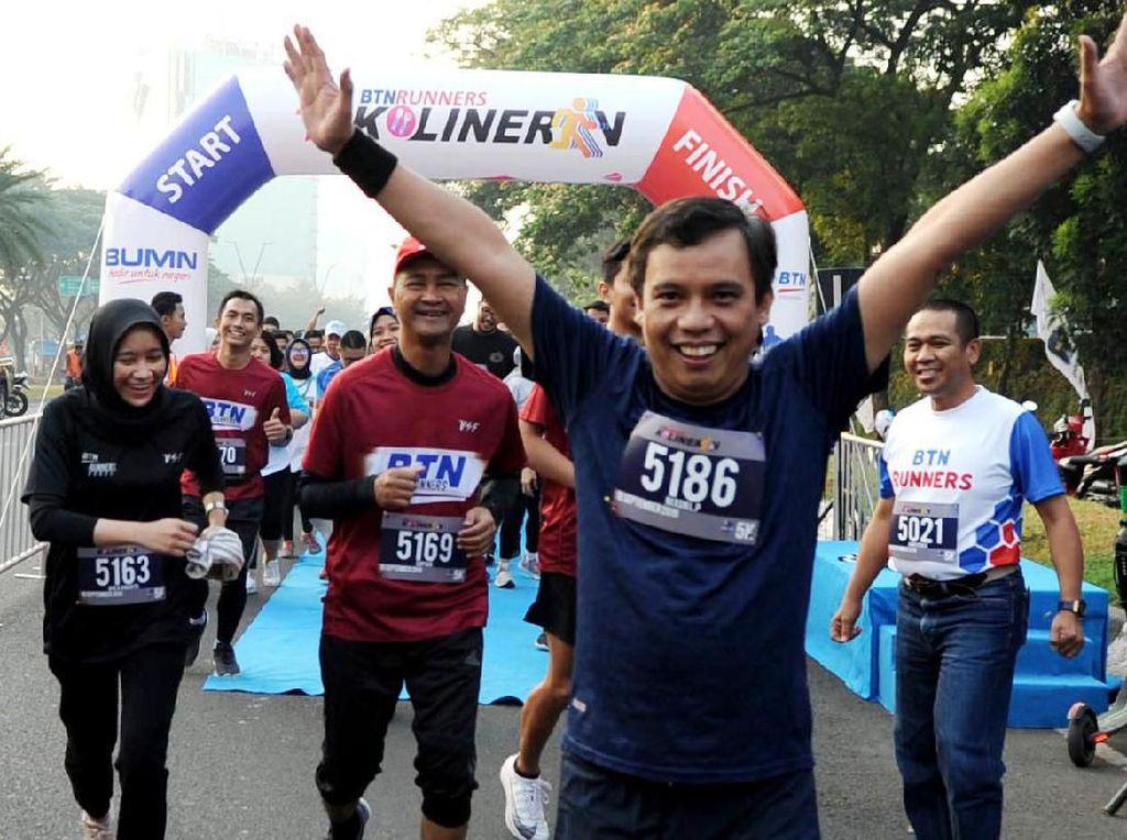 BTN Runner merupakan komunitas penggemar olahraga lari yang menjadi ruang untuk pegawai BTN dalam menyalurkan sekaligus mengembangkan bakatnya. Foto: dok. Bank BTN
