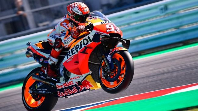 Marquez: Rossi Sangat Lambat di Kualifikasi MotoGP San Marino