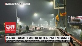 VIDEO: Kabut Asap Landa Kota Palembang