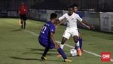 Timnas Indonesia U-16 sempat kesulitan mencetak gol ke gawang Filipina pada laga Grup G kualifikasi Piala Asia U-16 2020 di Stadion Madya, Senayan, Jakarta, Senin, 16 September 2019. (CNNIndonesia//Safir Makki)