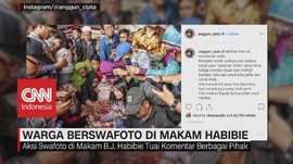 VIDEO: Fenomena Warga 'Selfie' di Makam Habibie