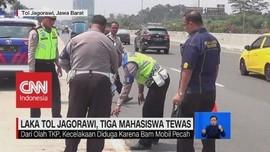 VIDEO: Kecelakaan Tol Jagorawi, 3 Mahasiswa Tewas