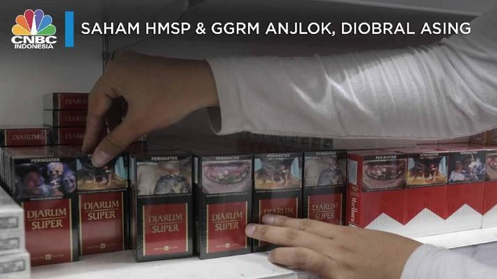 Harga saham emiten rokok di Bursa Efek Indonesia (BEI) pada penutupan sesi I, Jumat ini (4/10/2019) kompak amblas.
