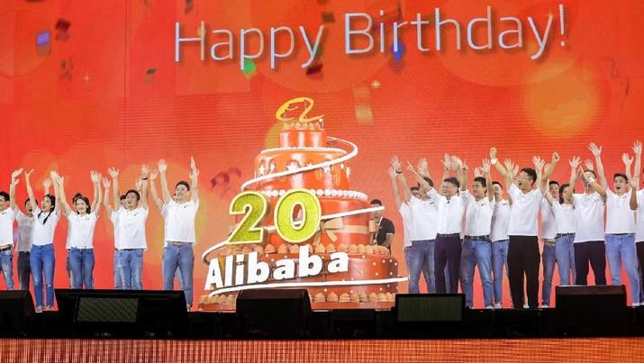 Konsumen China mencapai rekor pengeluaran baru pada Senin dalam acara Alibaba