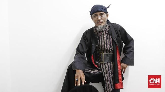 Djoko Susanto. Salah satu anggota dalam Srimulat Surabaya terkini. (CNN Indonesia/Safir Makki)