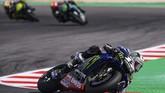Maverick Vinales meraih podium ketiga di MotoGP San Marino setelah meraih pole position. (Photo by Marco Bertorello / AFP)